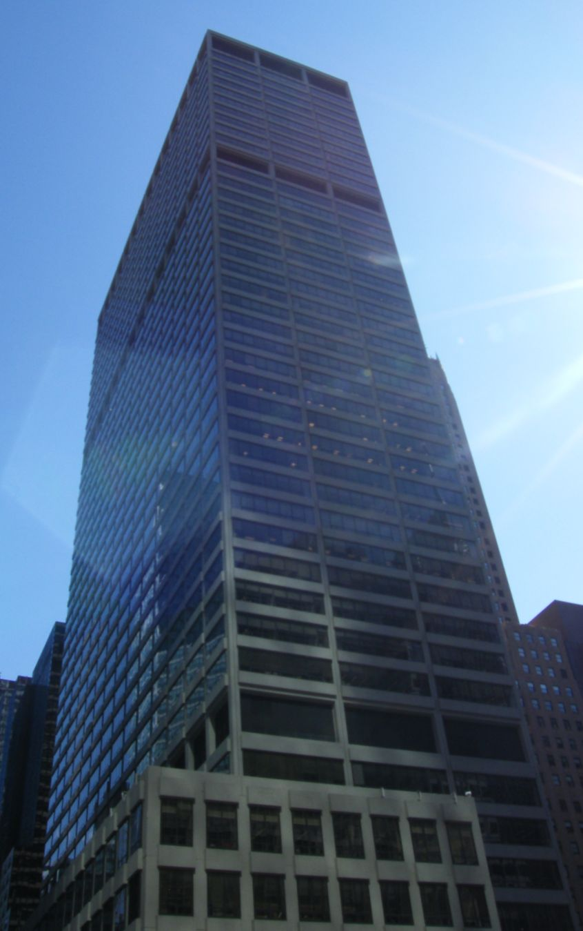 The headquarters of the National Football League at 345 Park Avenue, Midtown Manhattan, New York City, USA.