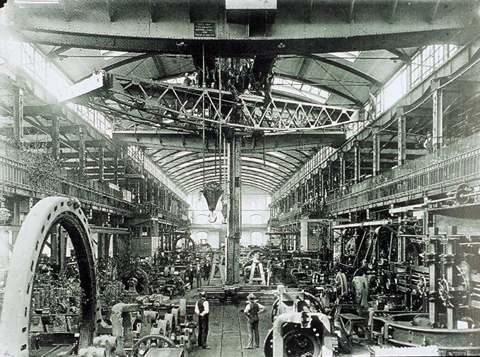 File aeg turbinenfabrik huttenstrasse turbinenhalle foto for Peter behrens aeg turbine factory