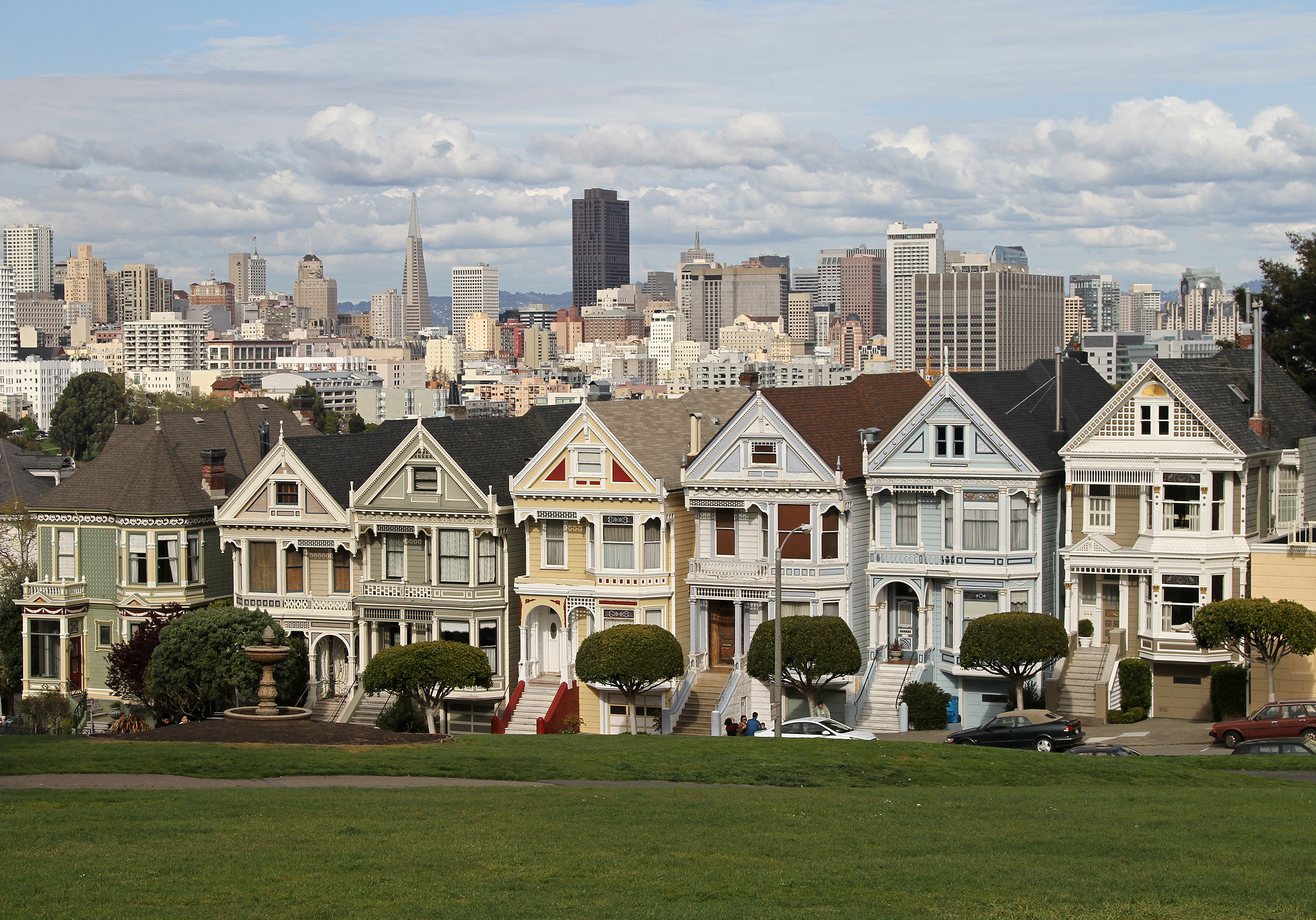 File alamo sq painted ladies 1 sf ca jjron for Victorian house facts