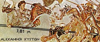 亚历山大马赛克中,亚历山大大帝所率的即是伙友骑兵