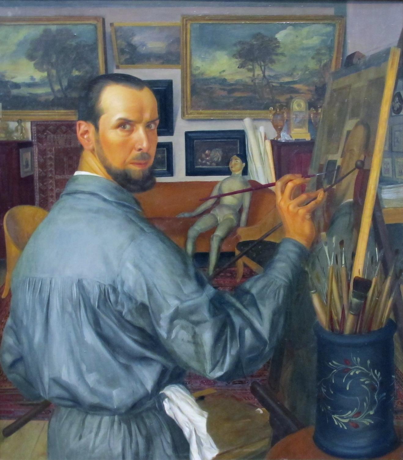 Fichier:Alexandr Yakovlev (self-portrait, 1917, GTG).jpg