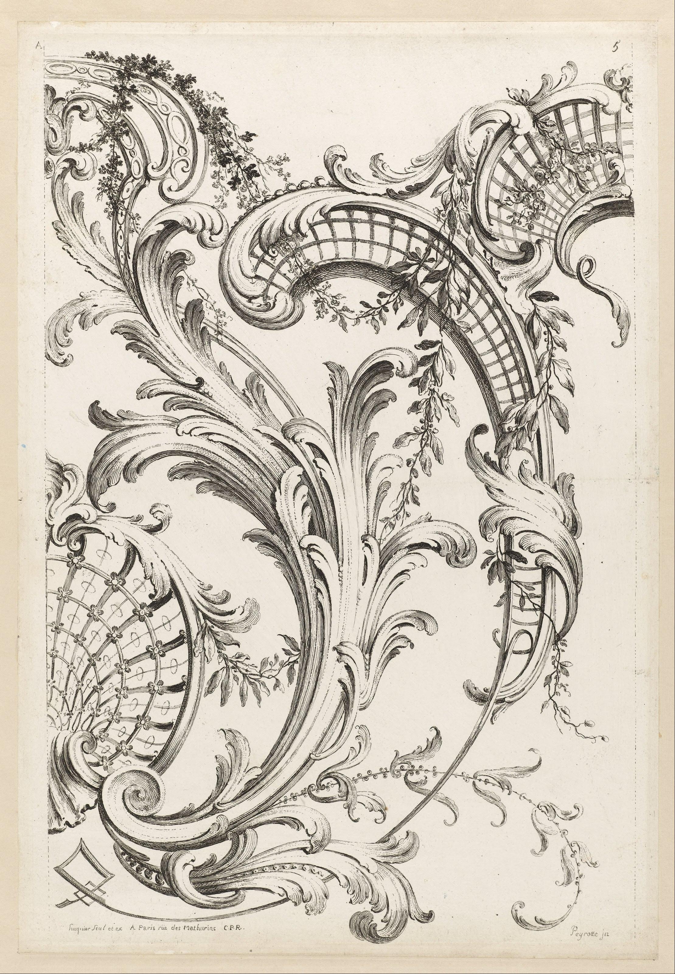 rococo motif vintage floral - photo #47