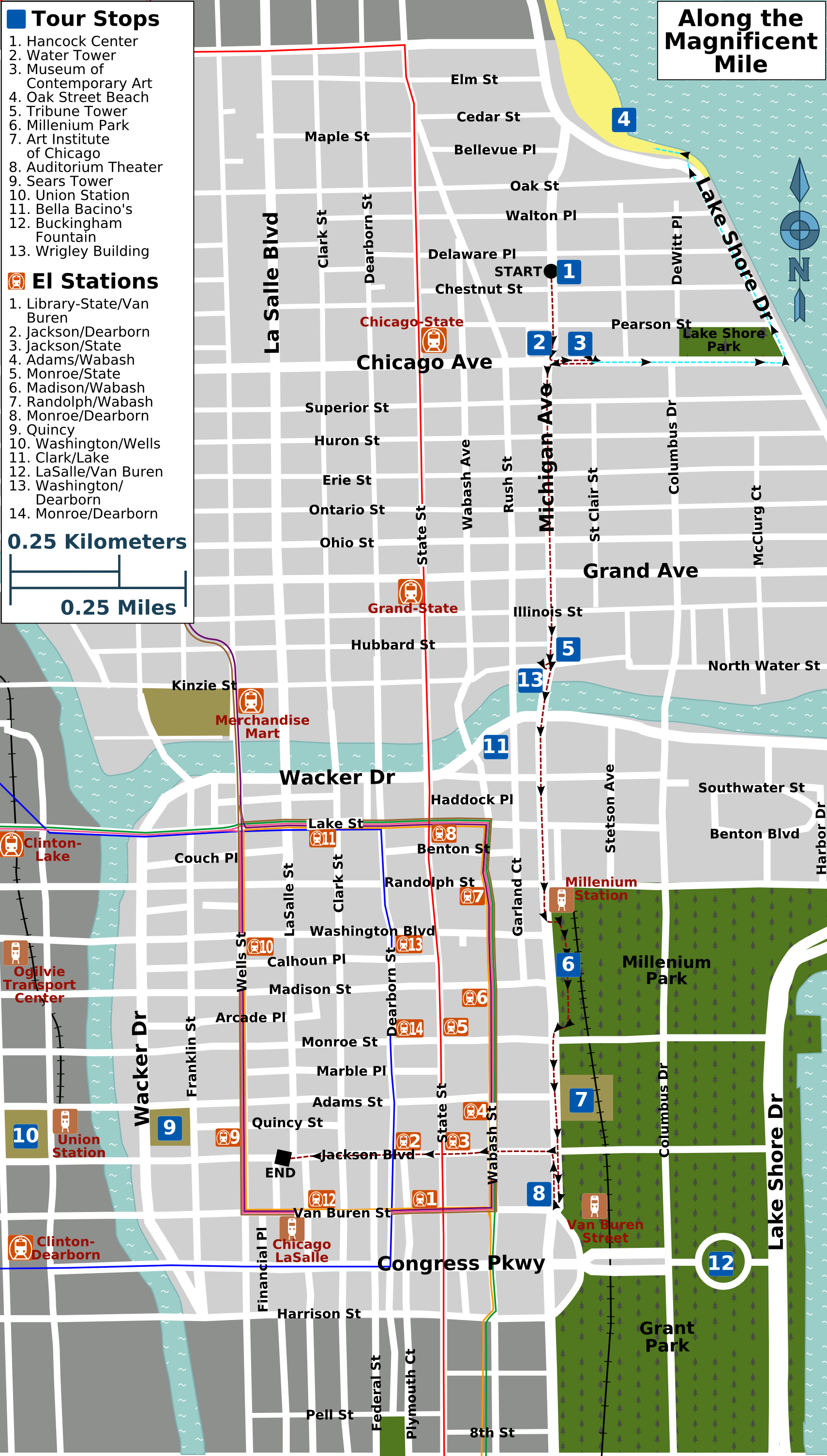 File Along The Magnificent Mile Map Png Wikimedia Commons