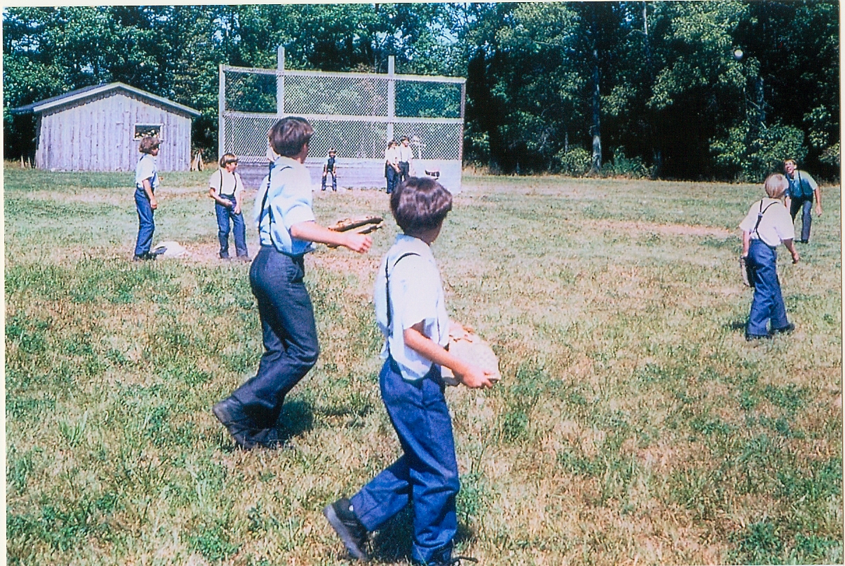 Image result for amish kids playing