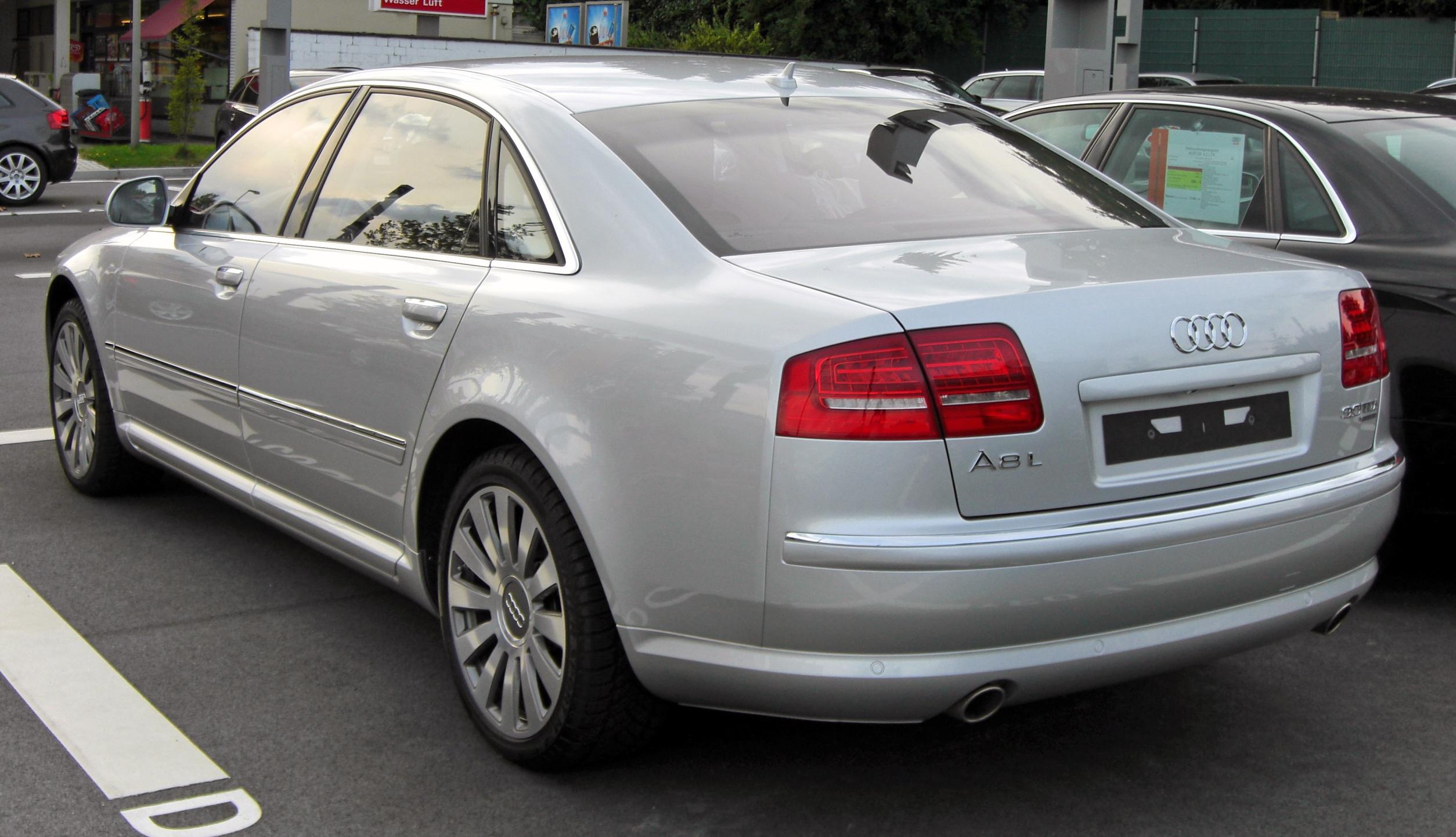 File:Audi A8 L D3 II.Facelift 20090720 rear.JPG - Wikimedia Commons
