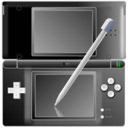 File Black Nintendo Ds With Pen Icon Png Wikimedia Commons