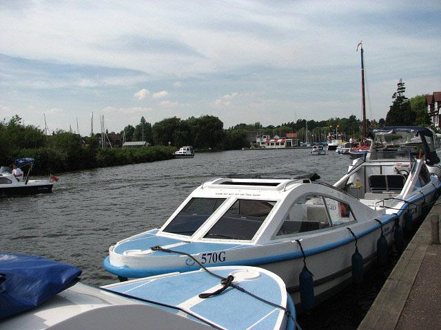 Boats moored at Horning - geograph.org.uk - 904102