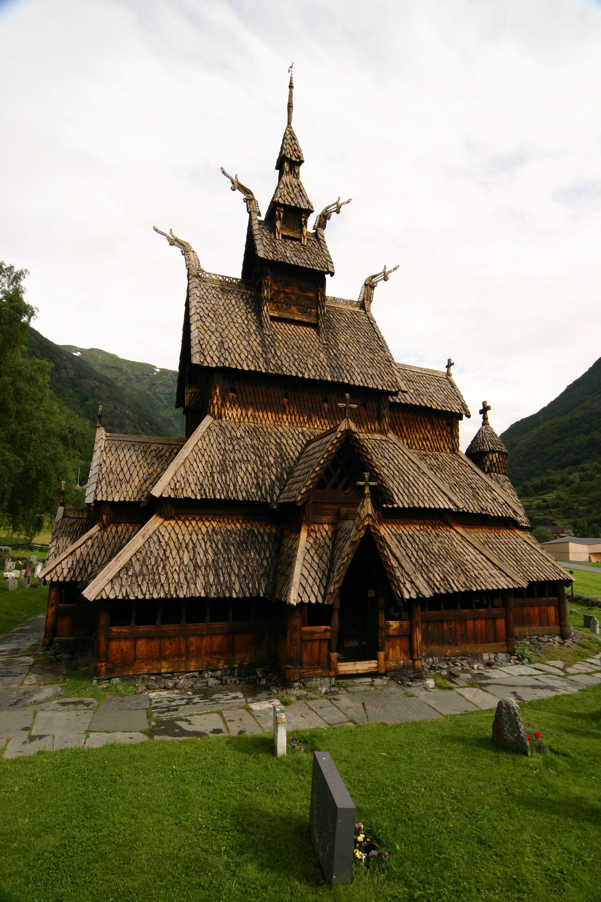 Viking Architecture: Stave Church (Stavekirche) In Borgund, Norway (The Prayer