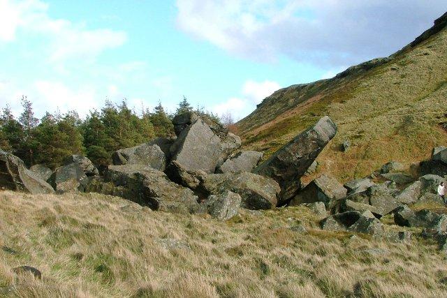 Boulder Field, Below the Wainstones - geograph.org.uk - 712567