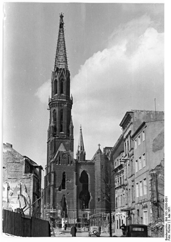 The ruins of st peters church at petriplatz in berlin photo taken
