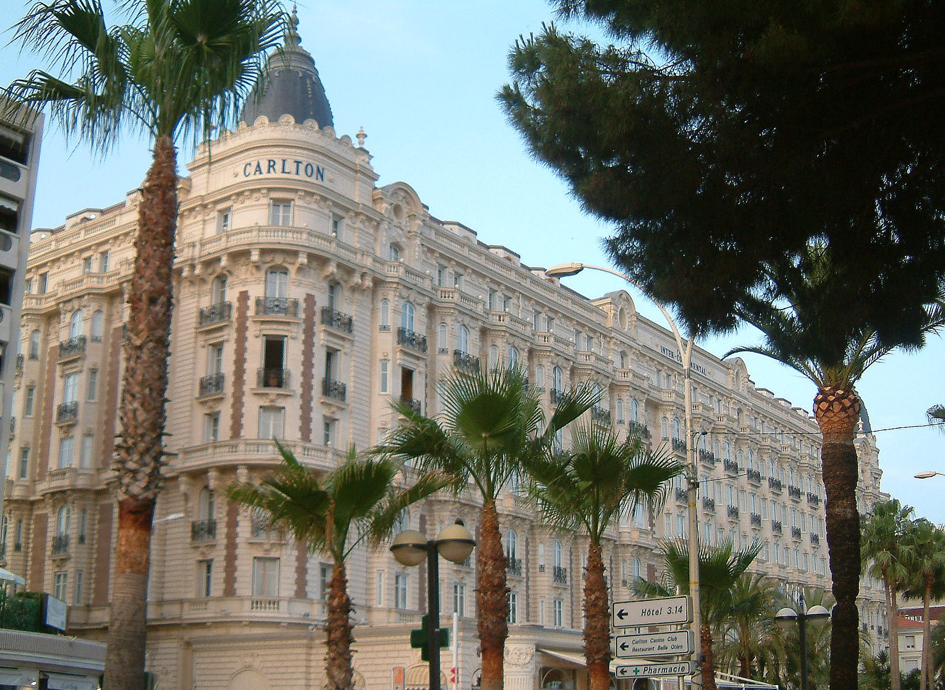intercontinental carlton cannes hotel wikipedia