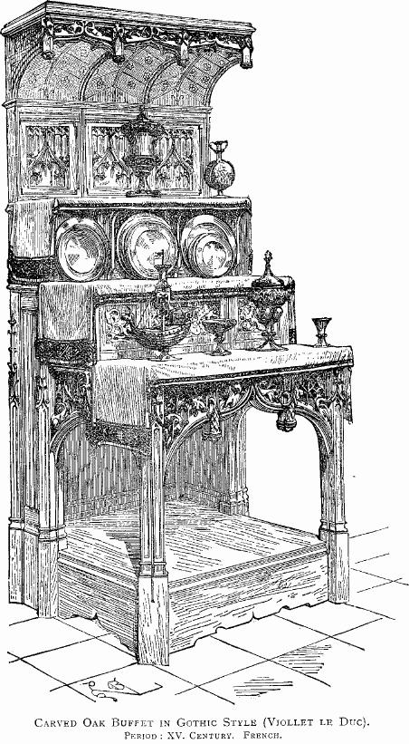 file carved oak buffet french gothic jpg wikimedia commons. Black Bedroom Furniture Sets. Home Design Ideas