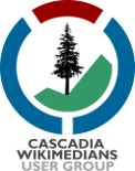 Cascadiawikimedians transparent Gill Sans 155px high.png