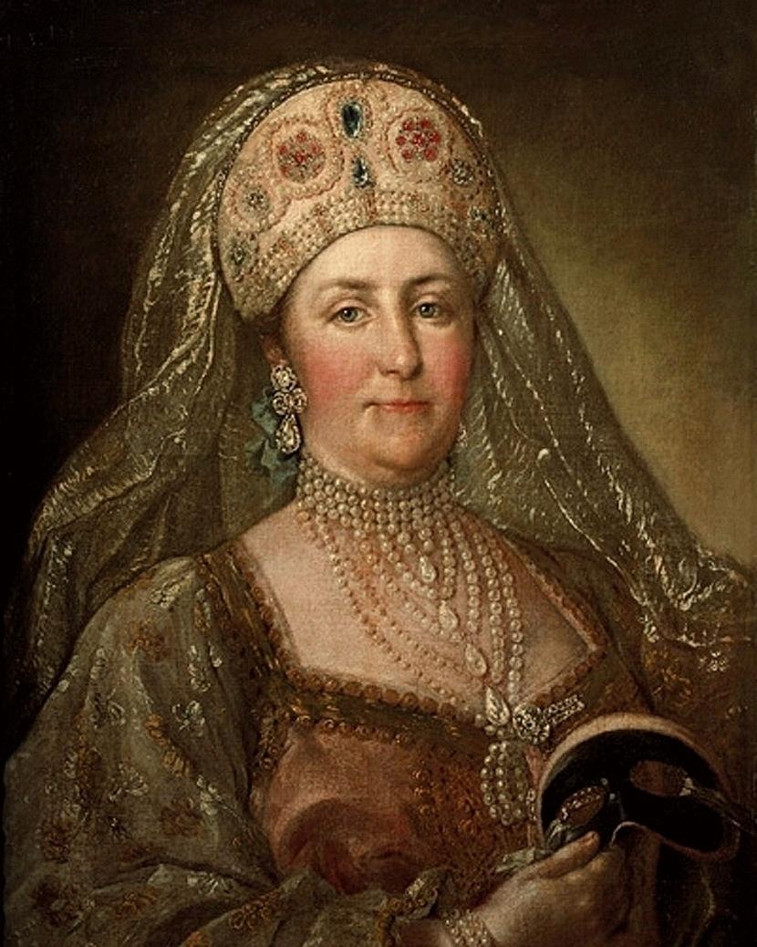 Catherine II in russian costume