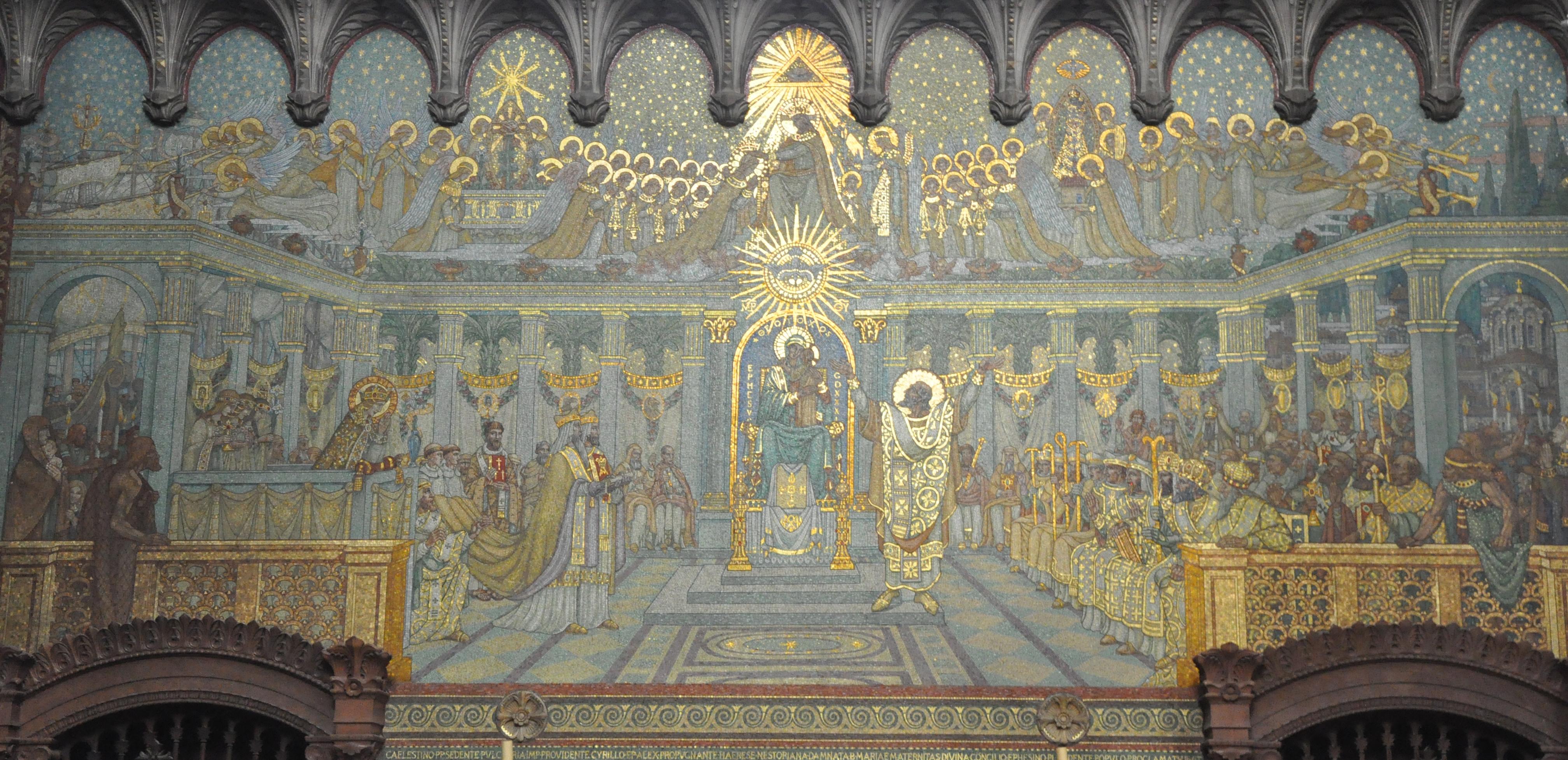 Resultado de imagen de LA CELEBRACIÓN DEL CONCILIO DE EFESO. Nestorio había acordado con el emperador en 43