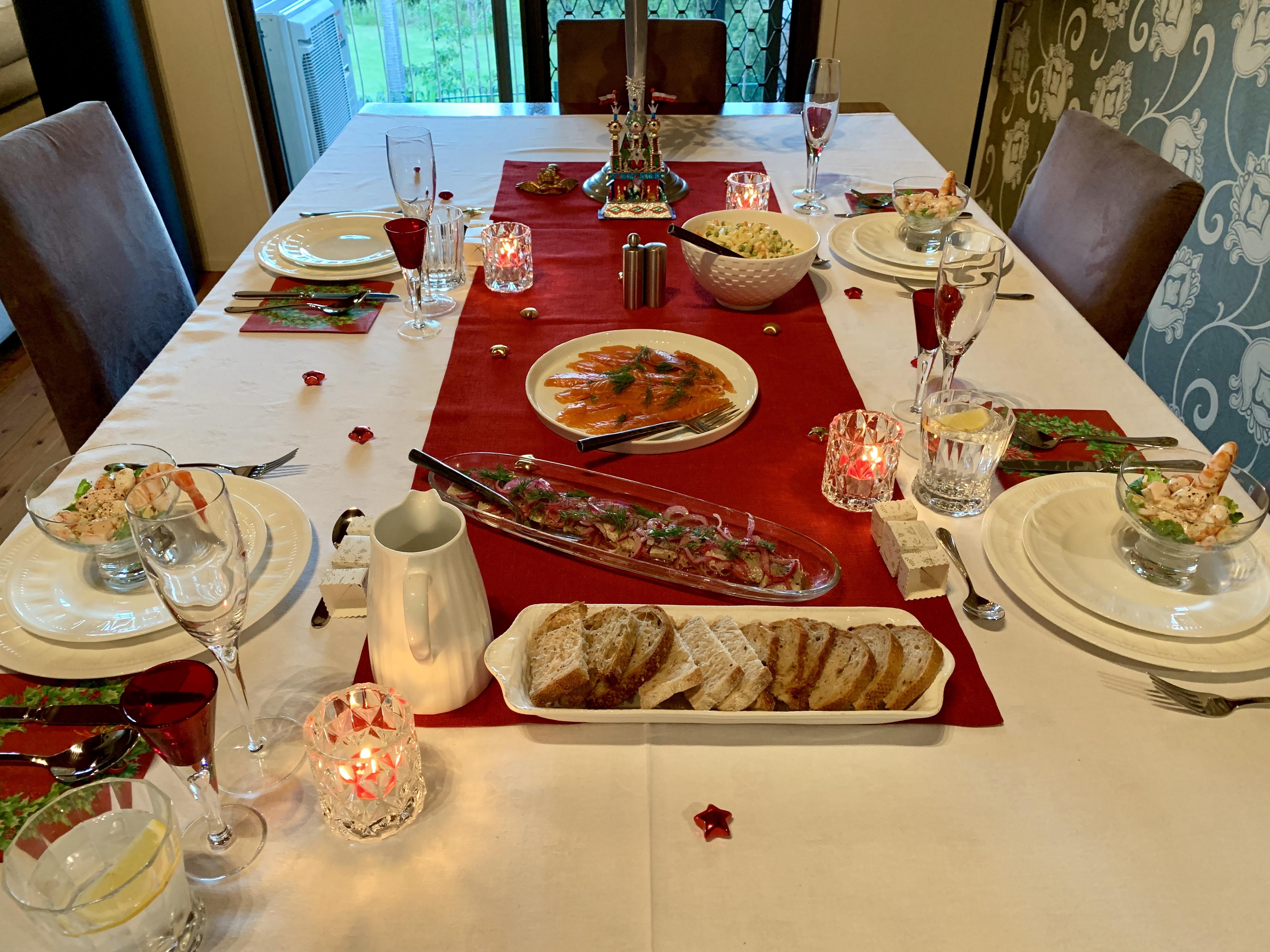 Food For Christmas Eve.File Christmas Eve Dinner Table With Christmas Food 02 Jpg