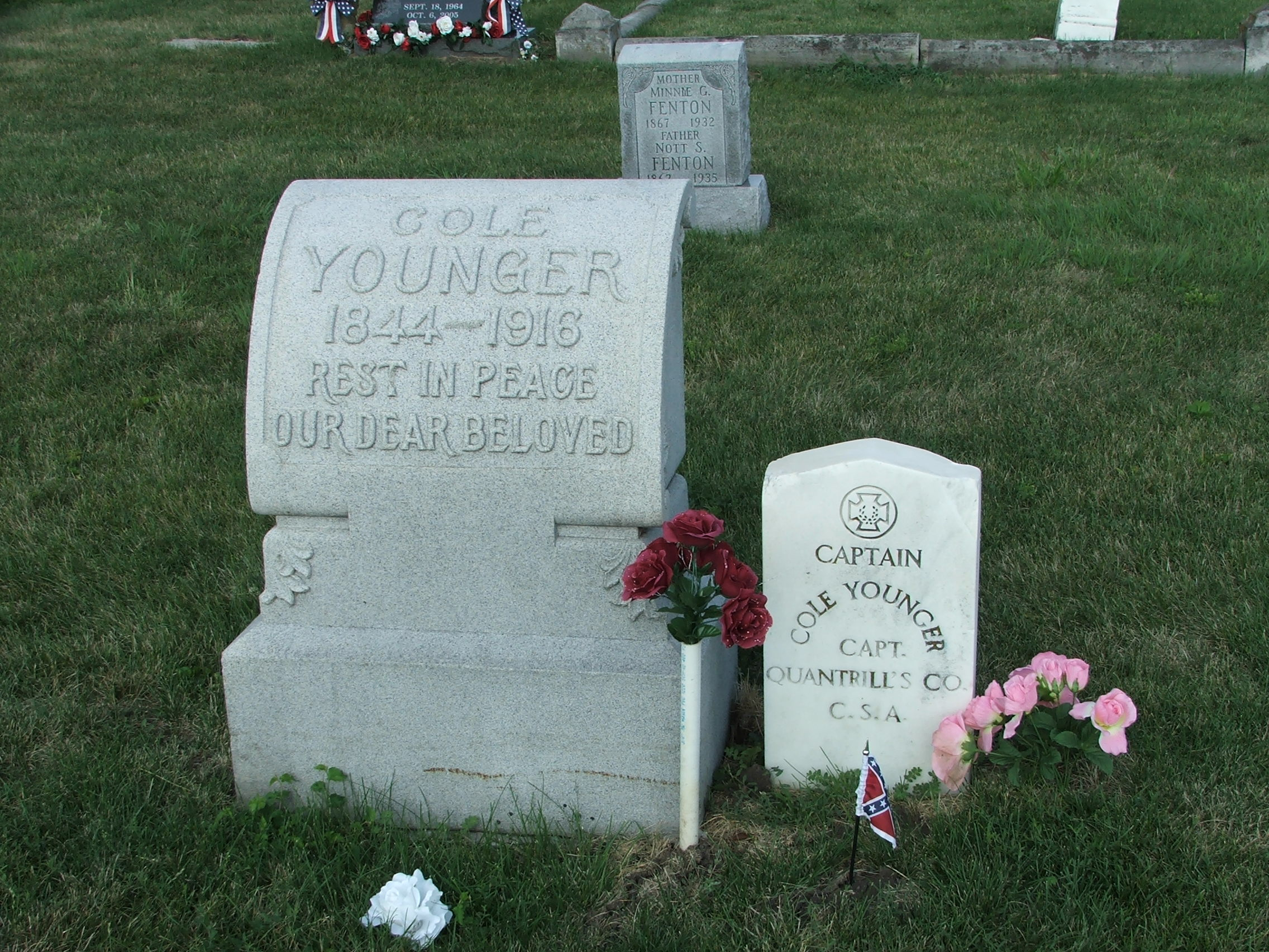 Cole Younger gravesite in Lee's Summit, Missouri.