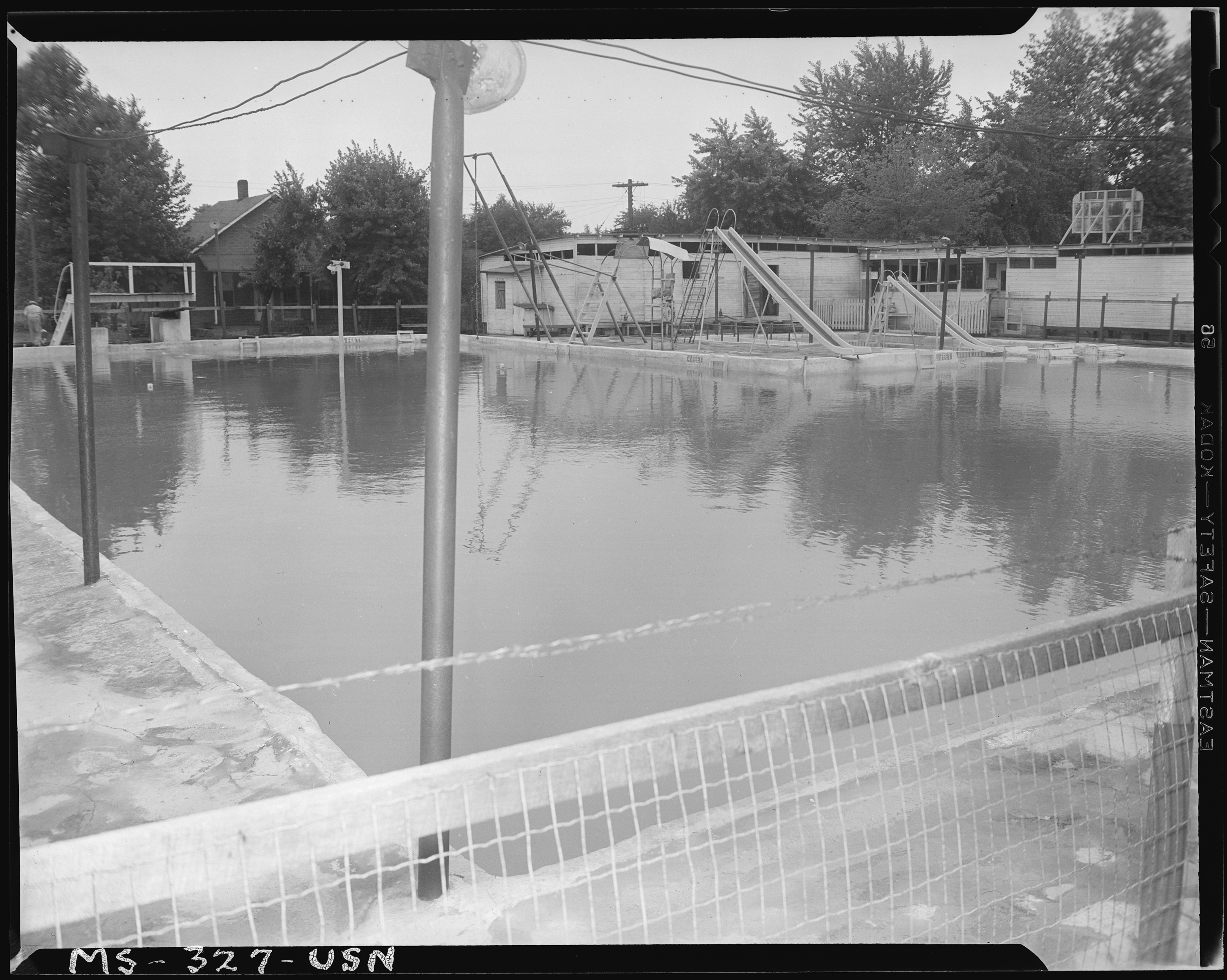 Old Swimming Pool : File commercial swimming pool under investigation by