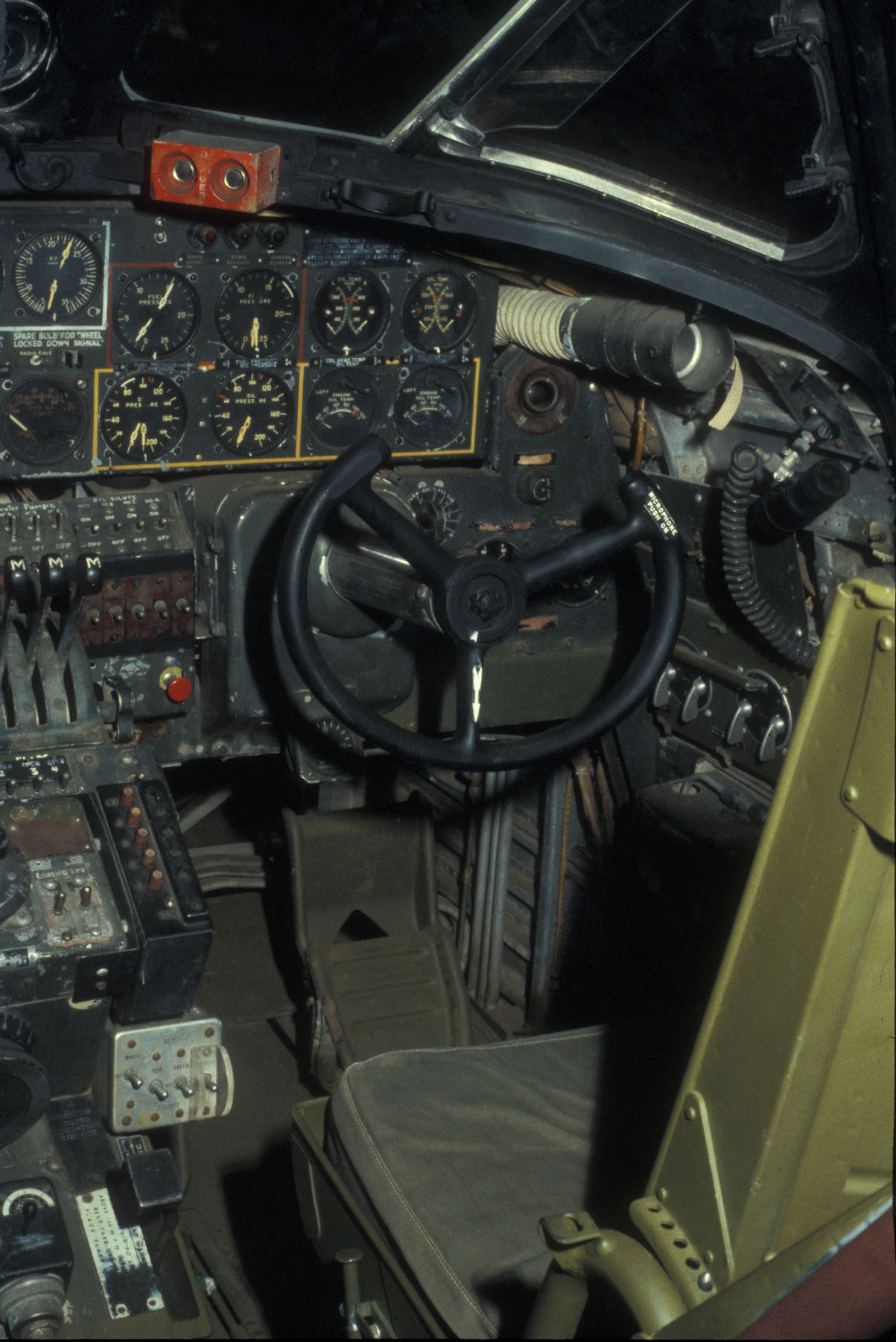 Cockpit of the B24  The aircraft that helped win WW II
