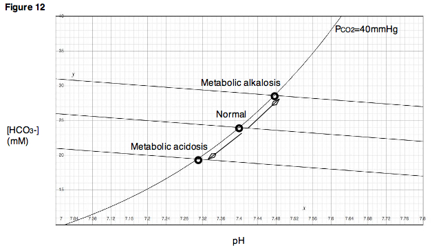 Figure 12. Alterations in the concentrations of acidic or basic metabolites may result in metabolic acidosis or metabolic alkalosis.