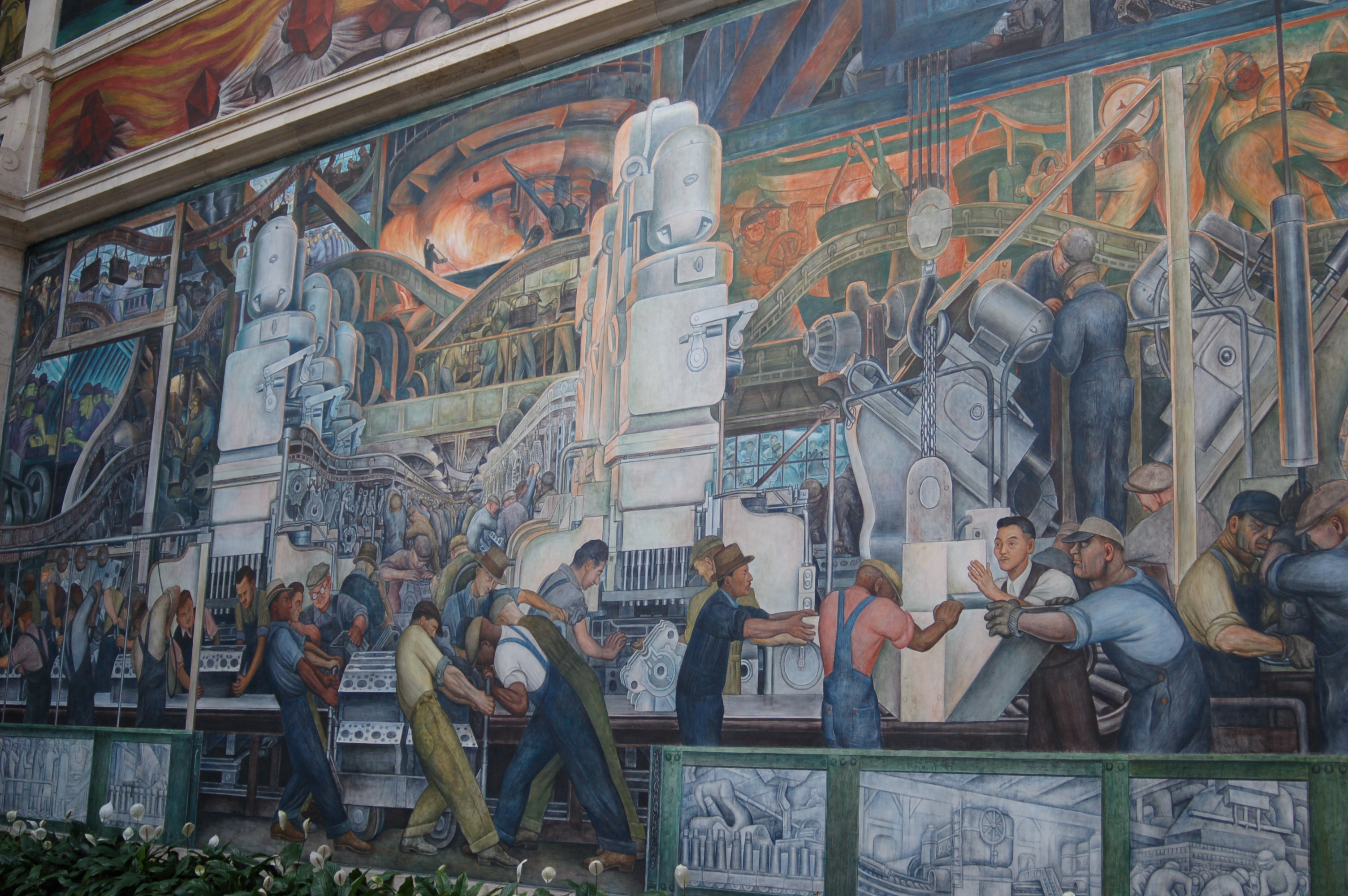 File diego rivera detroit industry for Diego rivera mural
