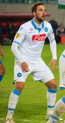 Higuaín with Napoli in 2015