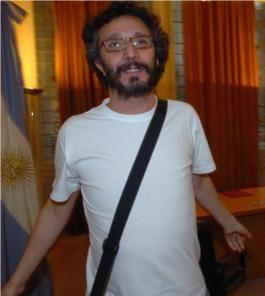 Fito Páez en una visita a la Casa Rosada, 2006.