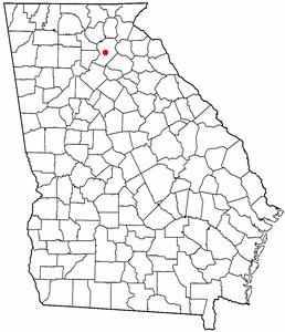 Location of Gainesville, Georgia