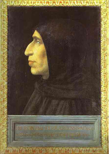 Girolamo Savonarola, also known as Jerome Savonarola or Hieronymus Savonarola, an Italian Dominican priest and leader of Florence from 1494 until his execution in 1498