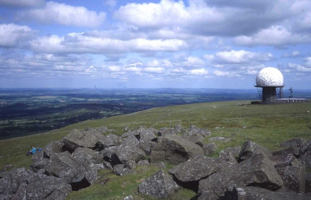 Granite and radar on the top of Titterstone Clee Hill - geograph.org.uk - 474013