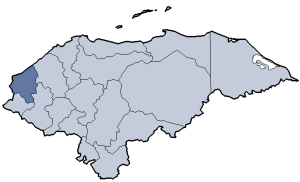 Location of Copán department