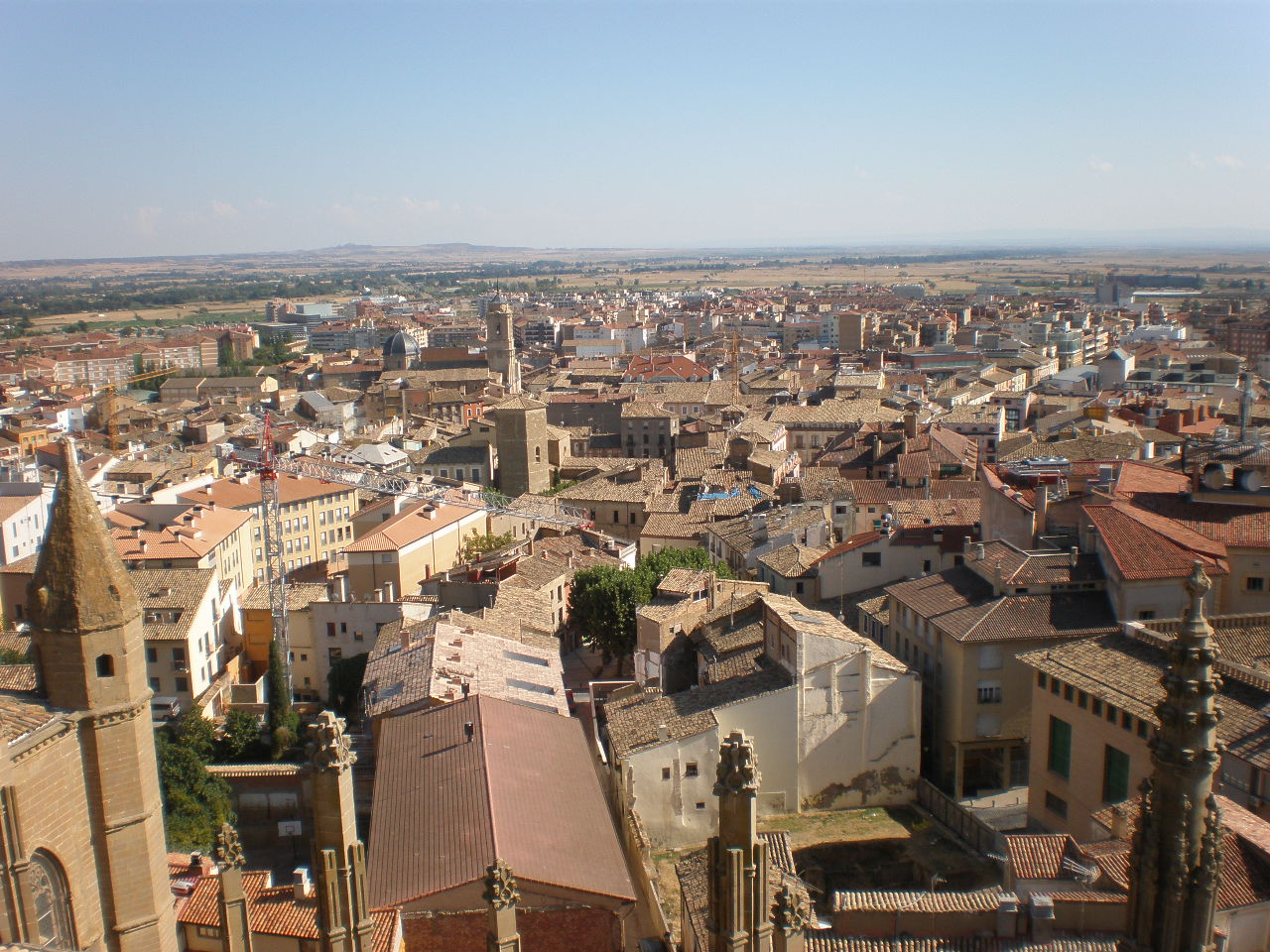 The City Of Huesca As Seen From The Cathedral
