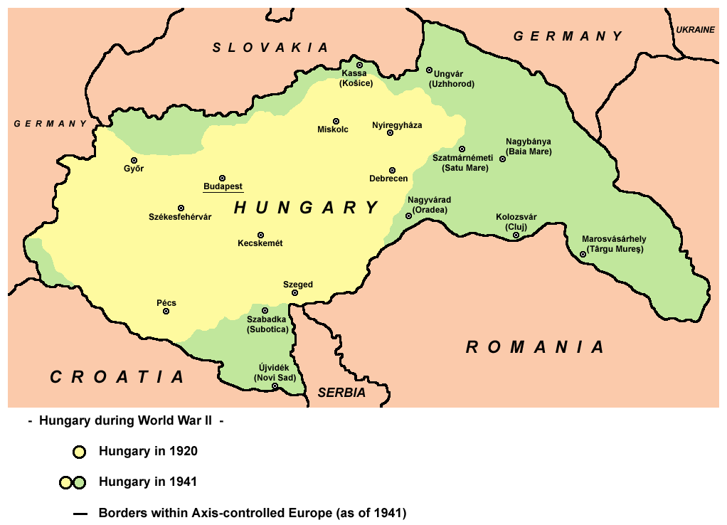Map Of Germany And Hungary.Vaizdas Hungary Map 1941 Png Vikipedija