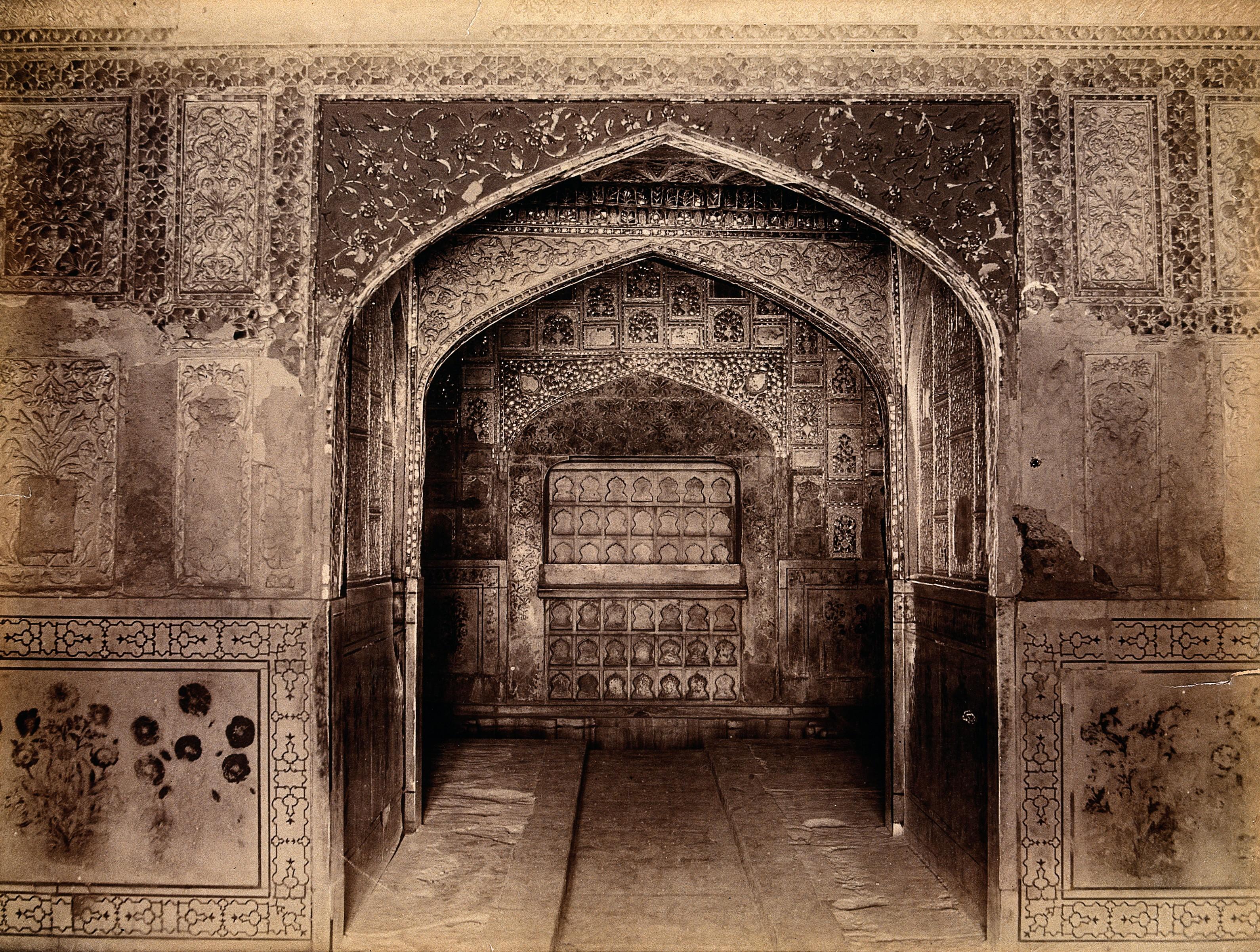 File:Interior Of The Taj Mahal, India Wellcome V0037719