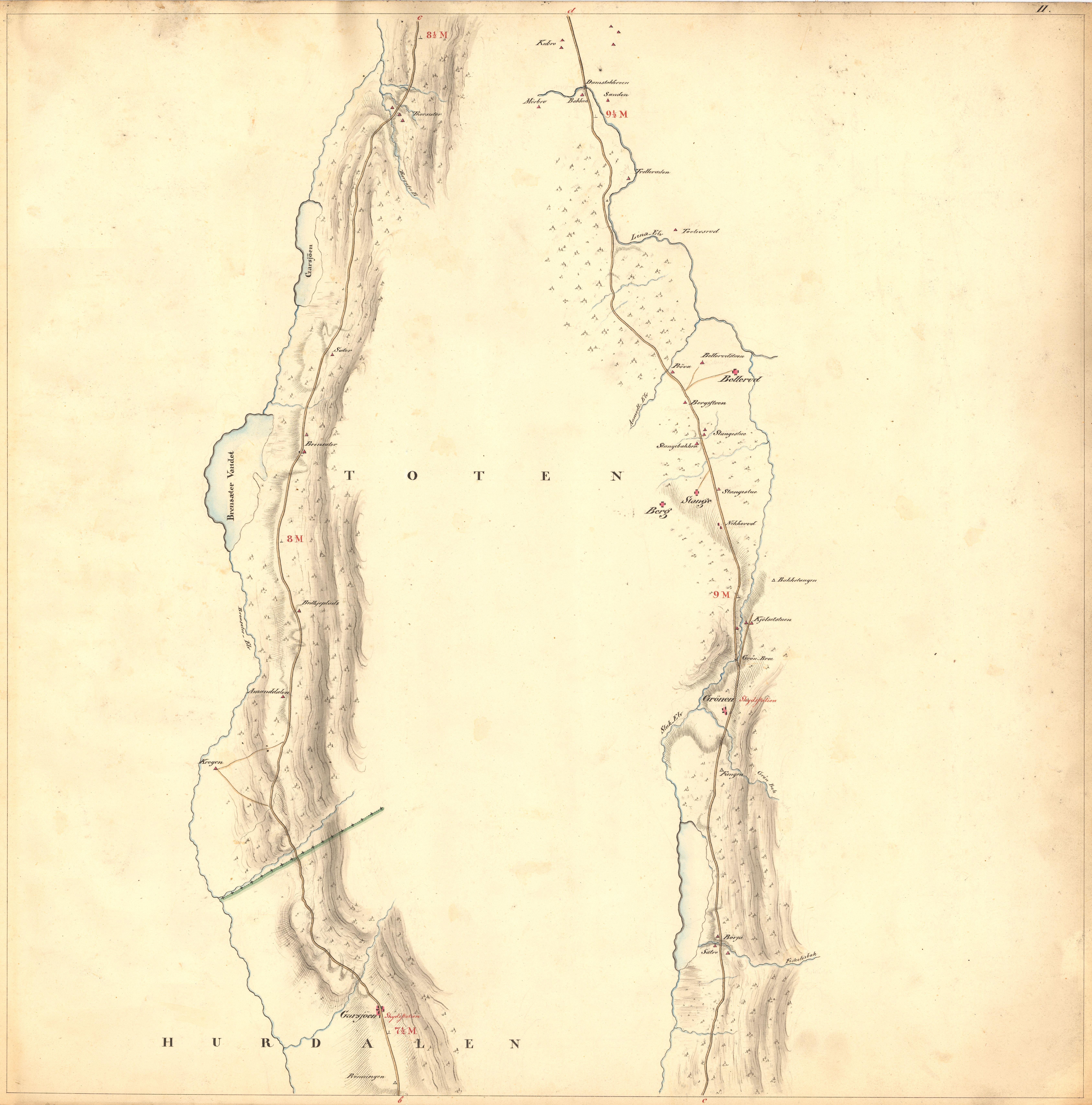 kart til og fra File:Kartblad 2  Kart over Veien fra Eidsvold igjennm Hurdalen  kart til og fra