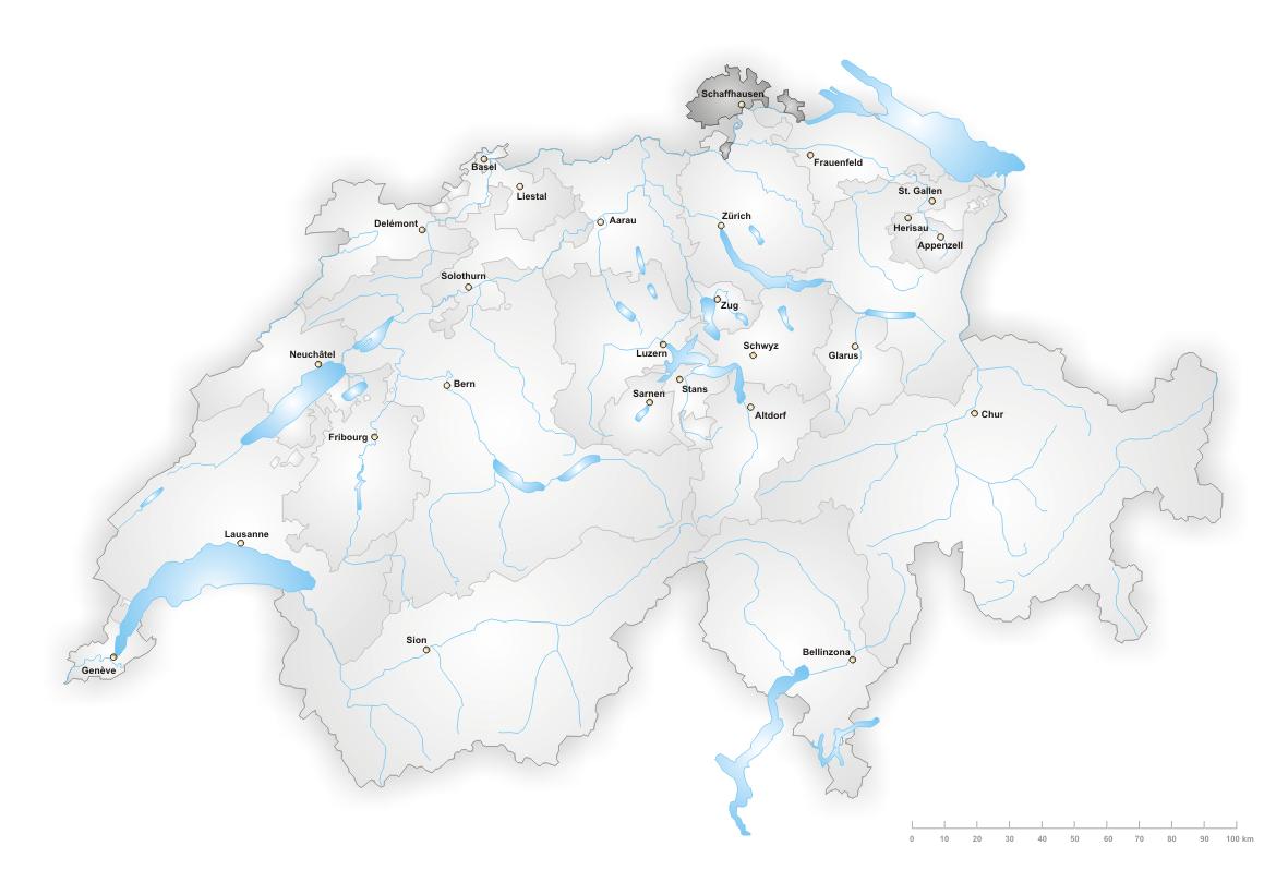 Кантон Шаффхаузен (Schaffhausen)