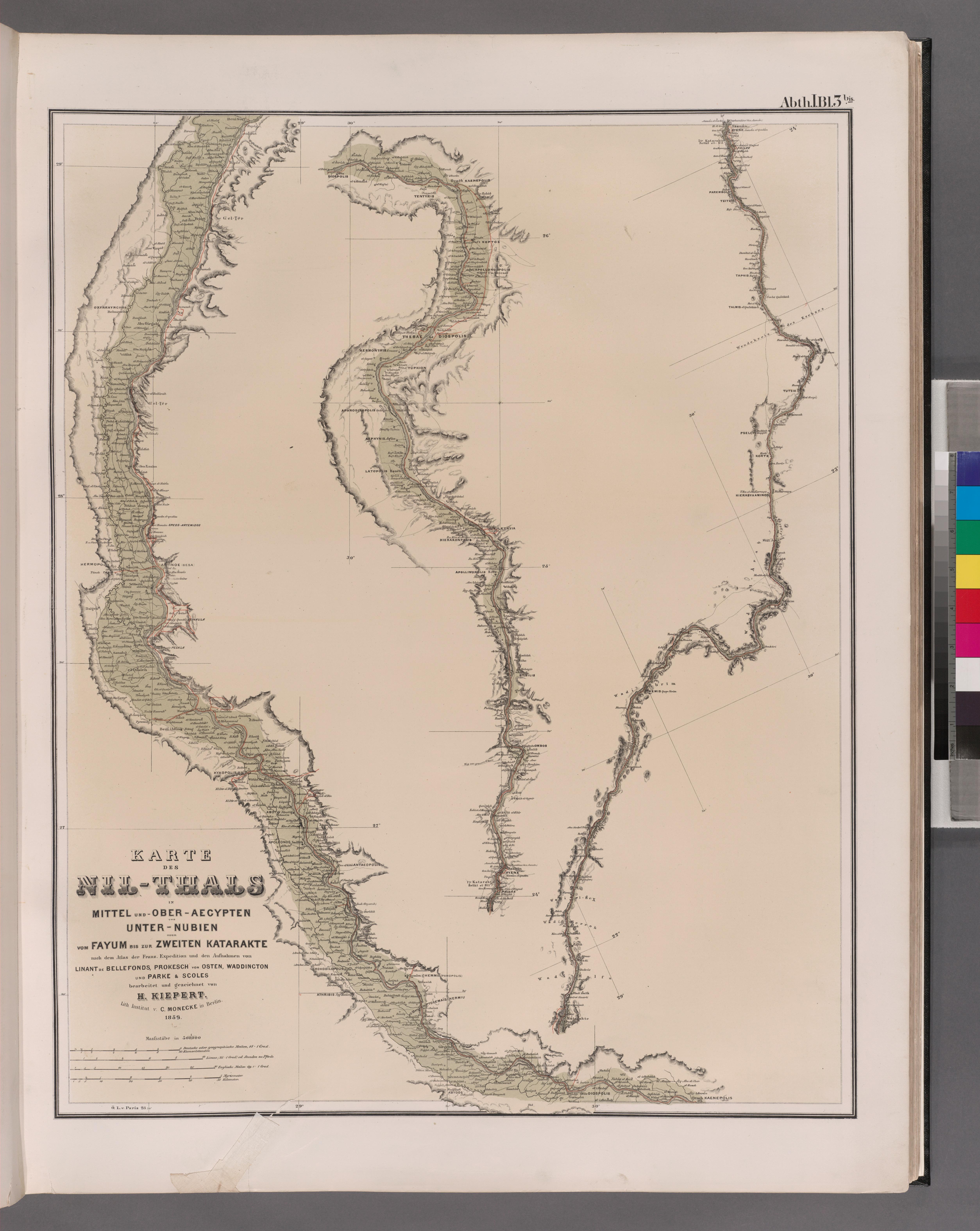 Karte ägypten Nil.File Karte Des Nil Thals In Mittel Und Ober Aegypten Und Unter