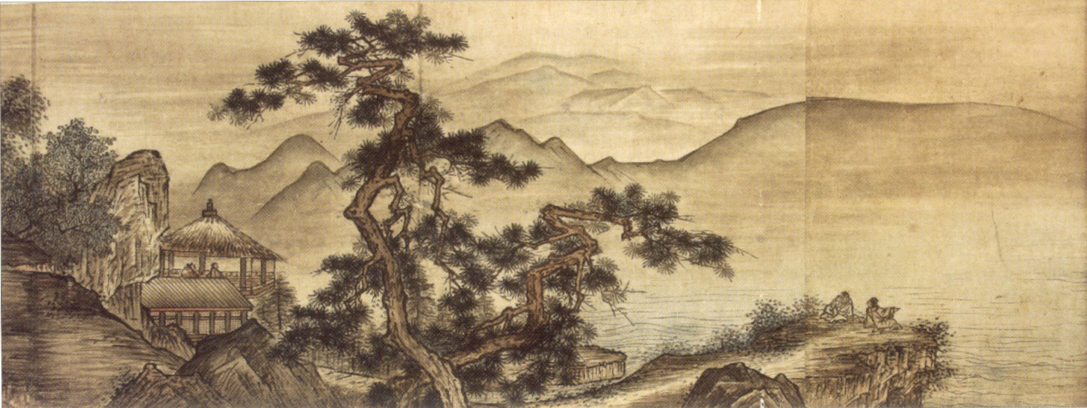 File:Landscape painting in the Chinese style by Shûgetsu ...