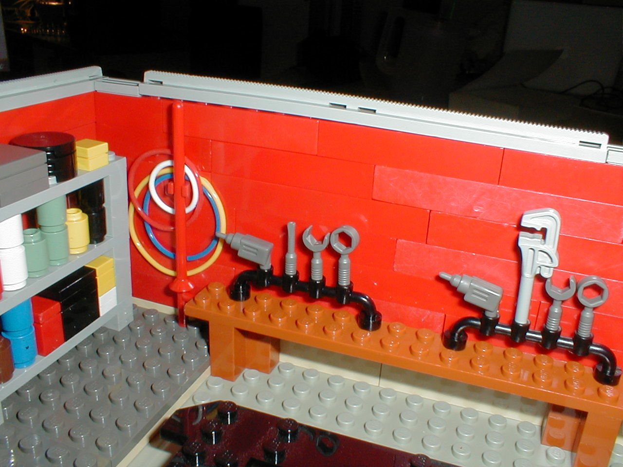 File Lego Garage Workbench Equipped With A Variety Of