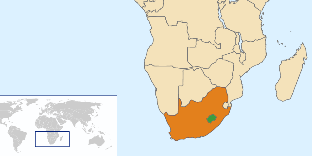 File lesotho south africa locator png wikimedia commons