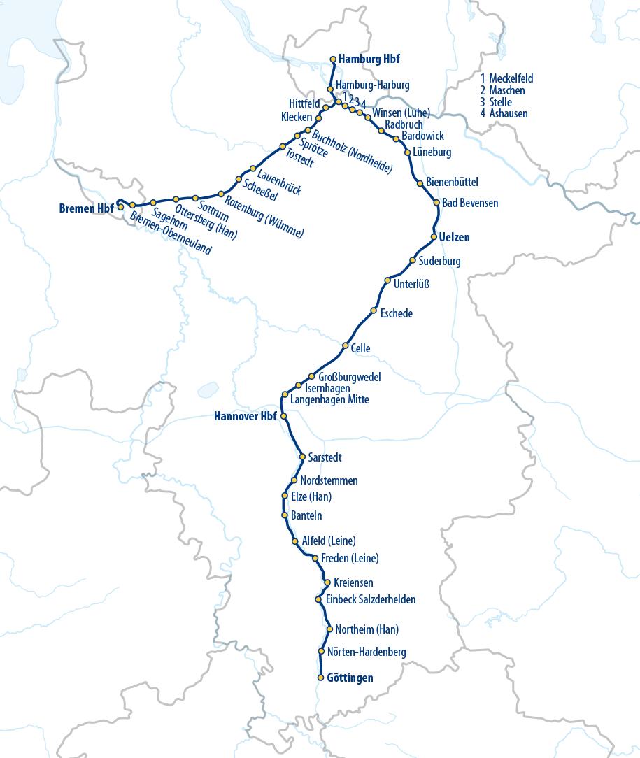 Hamburg bremen metronom fahrplan
