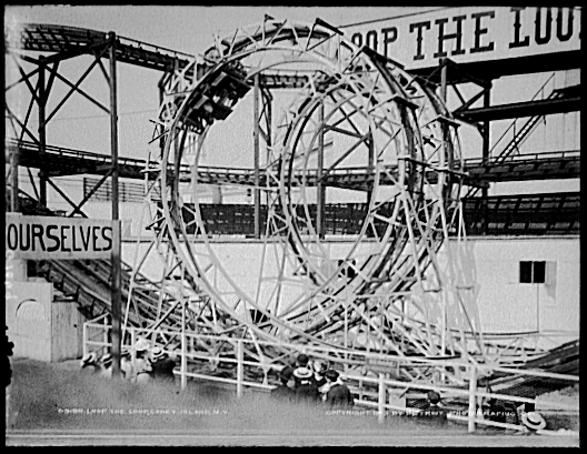 the history of switchback railway rollercoaster A switchback at a fair (a switchback being a railway at a fair etc), in which the train's ascents are effected by the momentum of its previous descents for our purposes we will combine the definitions and think of a roller coaster as being a ride which consists of some sort of vehicle on a track which uses gravity to thrill riders.