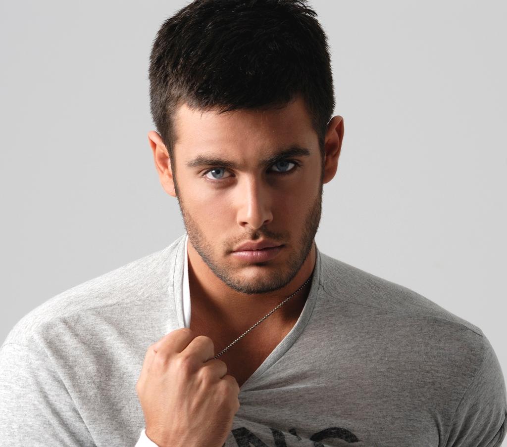 Hairy gay male model