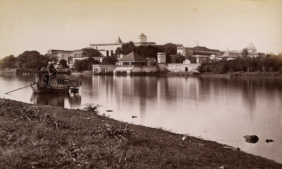 The Govindgarh Palace of the Maharaja of Rewa. The palace which was built as a hunting lodge later became famous for the first white tigers that were found in the adjacent jungle and raised in the palace zoo.