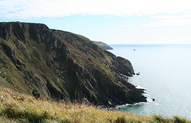 Malborough, cliffs by Bolberry Down - geograph.org.uk - 575082
