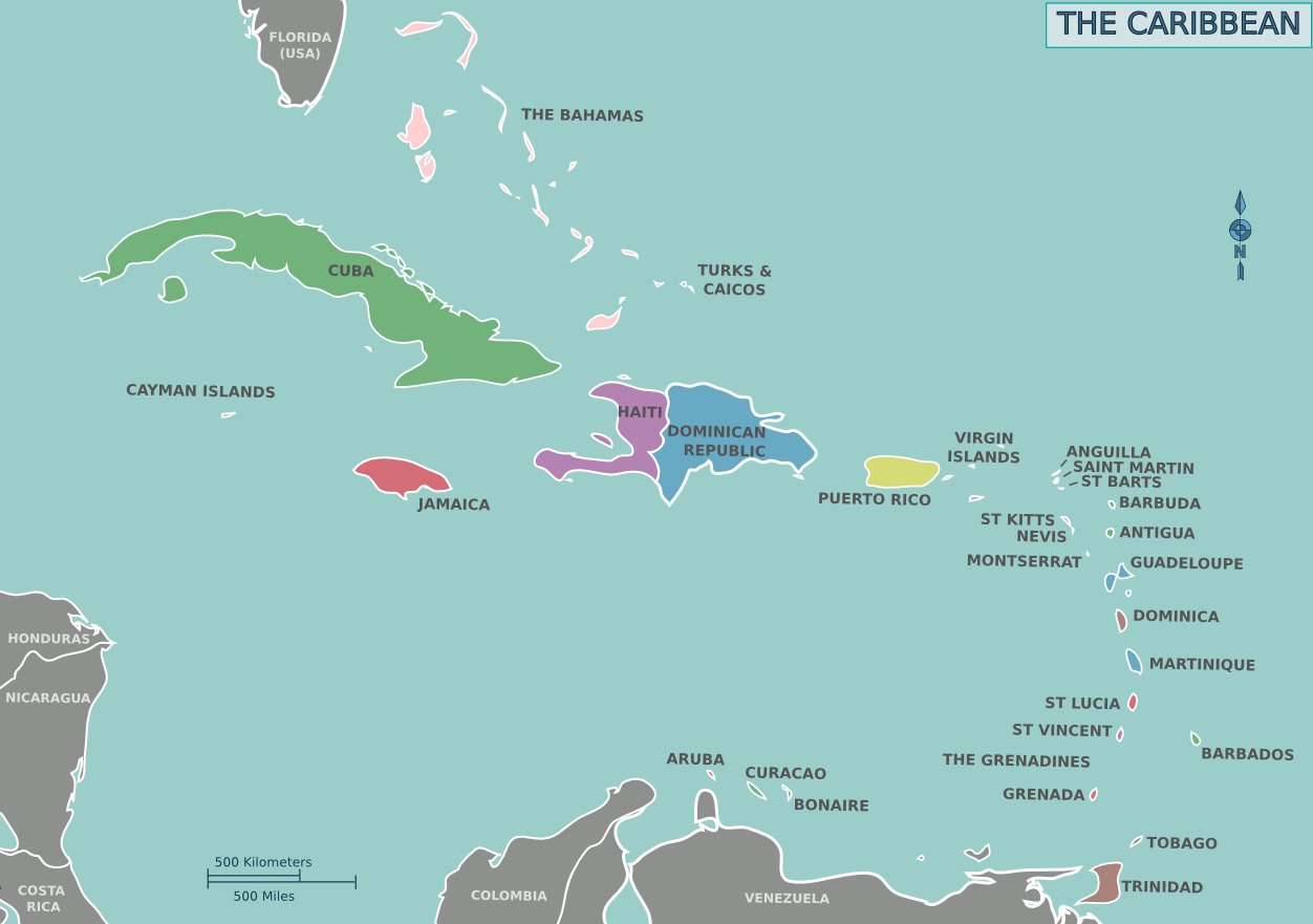 filemap of the caribbeanpng  wikimedia commons - filemap of the caribbeanpng