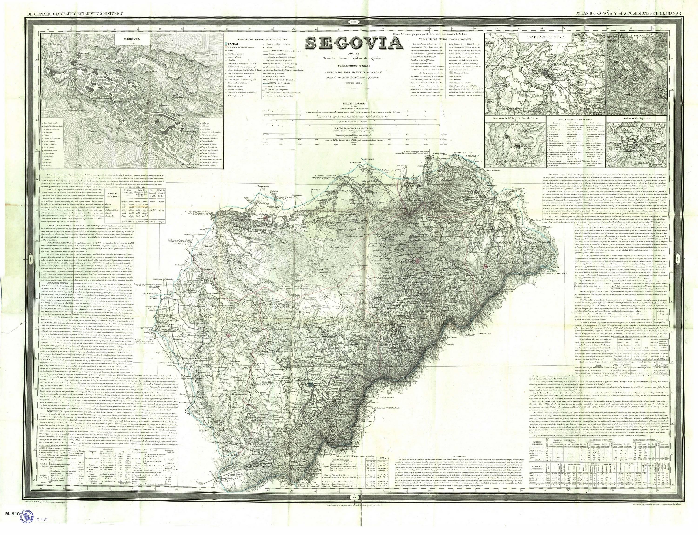 Provincia De Segovia Mapa.File Mapa De La Provincia De Segovia 1848 Por Francisco