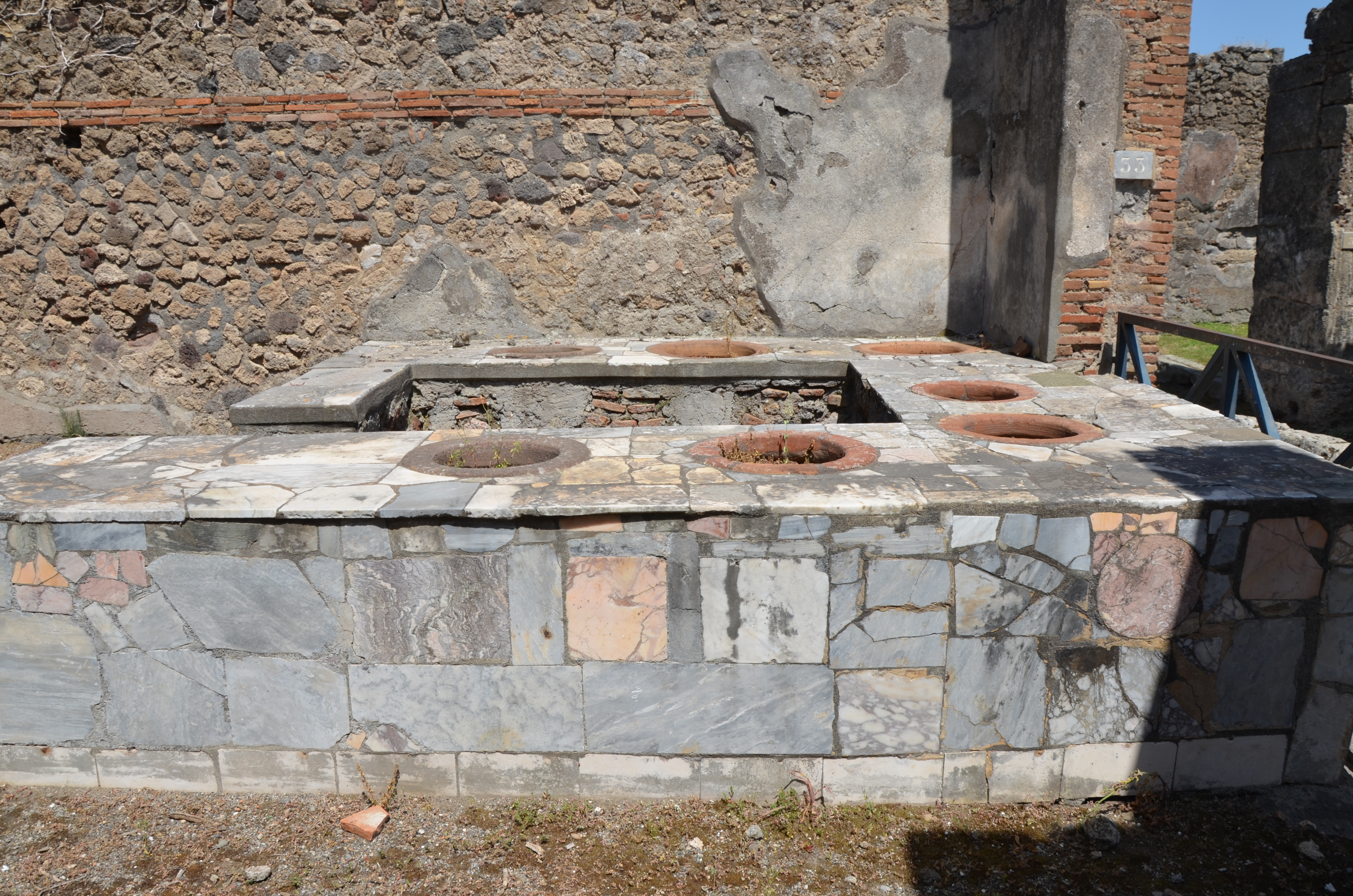 File Marble Surfaced Counter Of A Thermopolium Pompeii