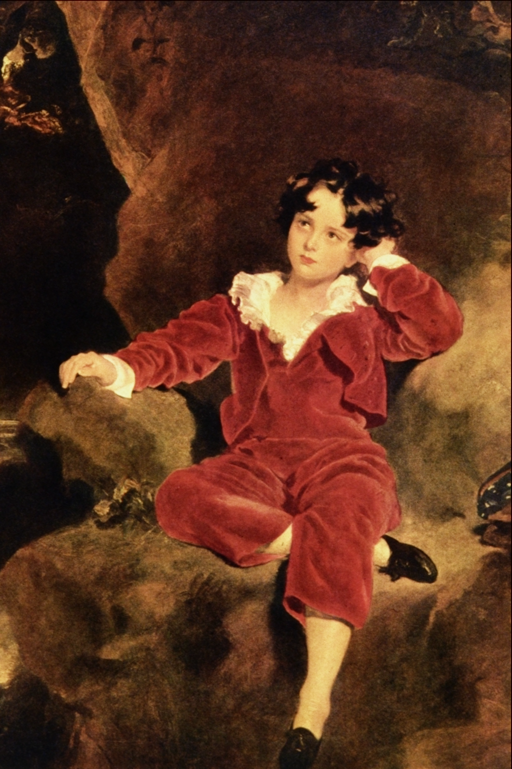 Little Boy In Red Painting