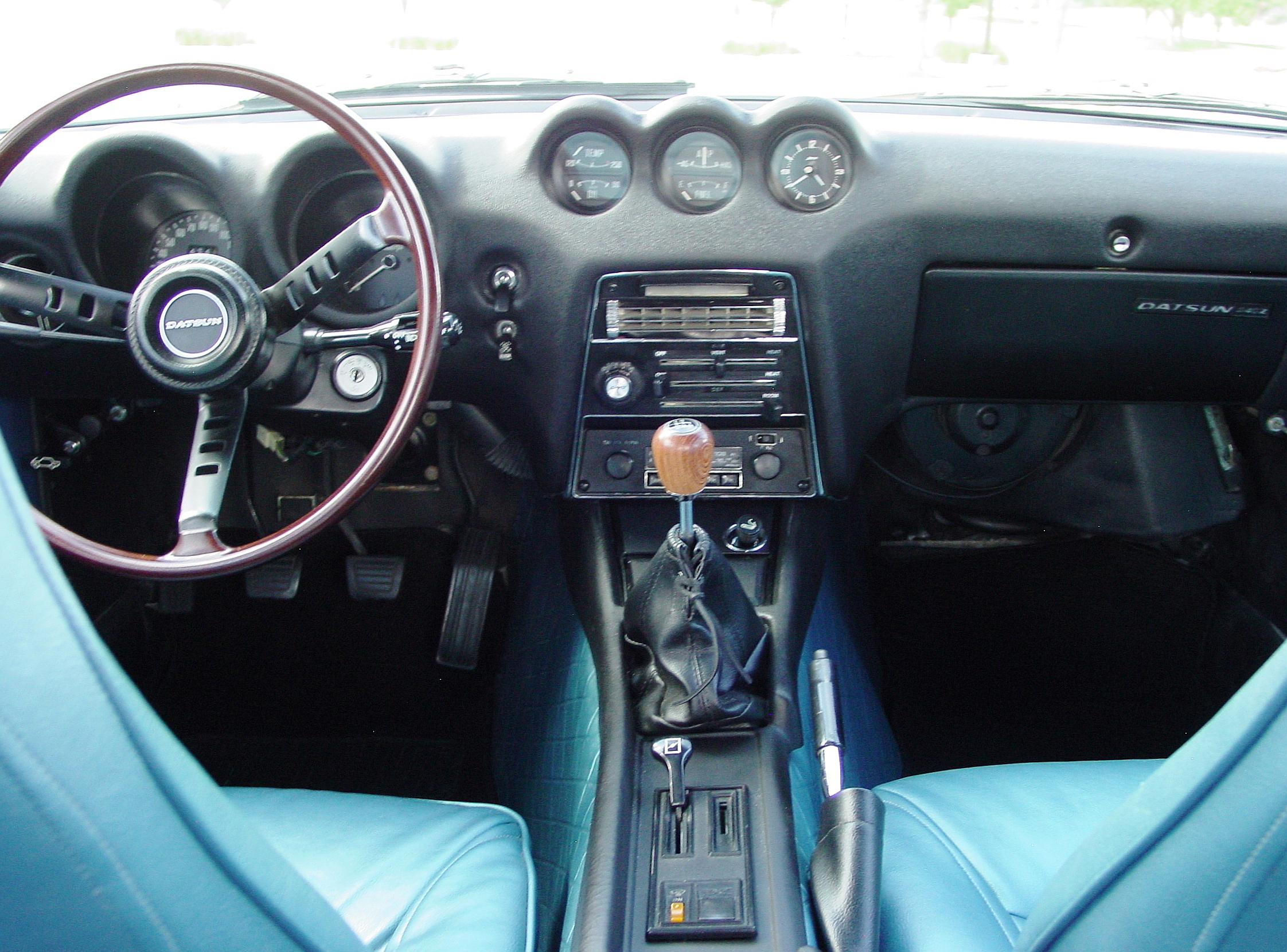 File My Restored 71 Datsun 240z With Rare Blue Interior